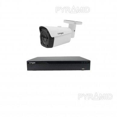 4K 8 megapikselių raiškos IP kamerų komplektas Longse - 1- 4 kameros LBF30ML800 4