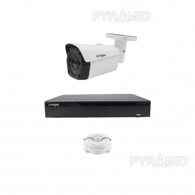 Комплект 8Mп 4K IP видеонаблюдения Longse - 1- 4 камеры LBF30ML800, с POE 5