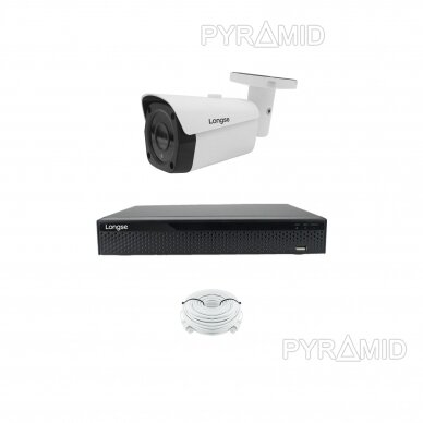 4K 8 megapikselių raiškos IP kamerų komplektas Longse - 1- 4 kameros LBF30ML800 5