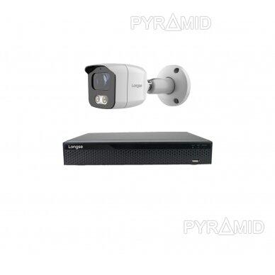 4K 8 megapikselių raiškos IP kamerų komplektas Longse - 1- 4 kameros BMSAML800/A, POE 5