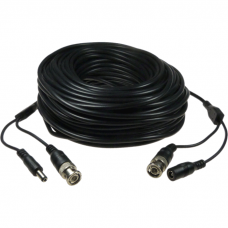 Coaxial and power cable BNC+DC 5,5mm plug