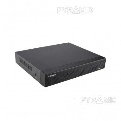 25 kamerų IP vaizdo įrašymo įrenginys Longse NVR3625DB, 1-8MP, iki 4K