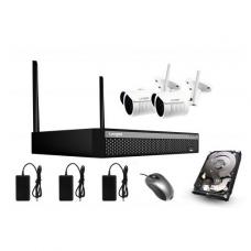 WIFI IP surveillance kit with 2 Full HD cameras Longse WIFI3604D2SF200, 1080p, 2,8mm