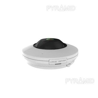 "360° ""Fish-Eye"" IP stebėjimo kamera su  microSD kortelės jungtimi Longse LMDES1200, 12Mpix 4"