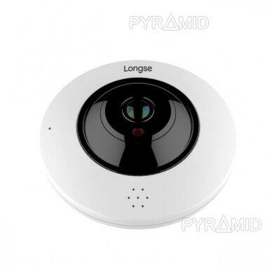 "360° ""Fish-Eye"" IP stebėjimo kamera su  microSD kortelės jungtimi Longse LMDES1200, 12Mpix"