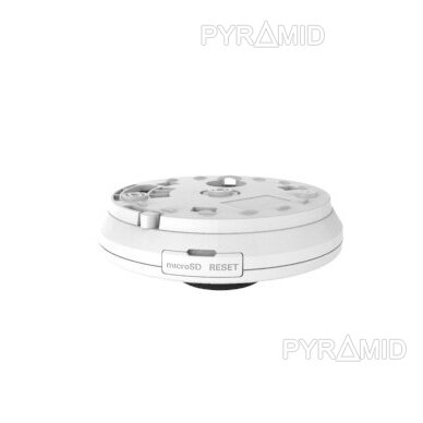 "360° ""Fish-Eye"" IP stebėjimo kamera su  microSD kortelės jungtimi Longse LMDES1200, 12Mpix 3"