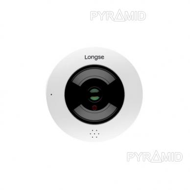 """360° """"Fish-Eye"""" IP stebėjimo kamera su WIFI ir microSD kortelės jungtimi Longse LMDES600, 4Mpix 2"""