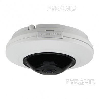 "360° ""Fish-Eye"" IP stebėjimo kamera su  microSD kortelės jungtimi Longse LMDES1200, 12Mpix 2"