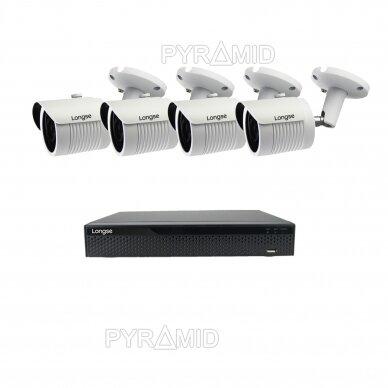 2 megapikselių raiškos IP kamerų komplektas Longse - 2- 4 kameros LBH30HSF200 12