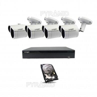 2 megapikselių raiškos IP kamerų komplektas Longse - 2- 4 kameros LBH30HSF200 2