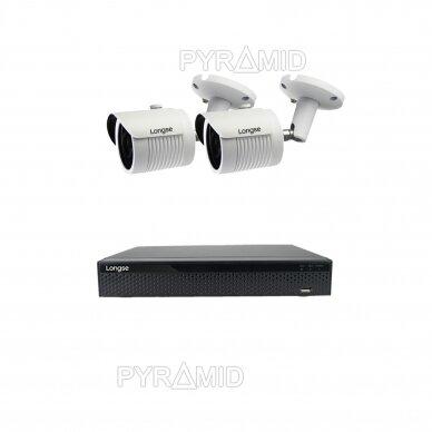 2 megapikselių raiškos IP kamerų komplektas Longse - 2- 4 kameros LBH30HSF200 7