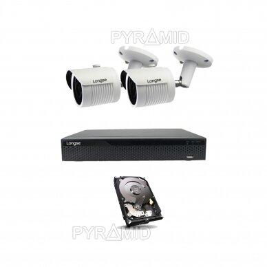 2 megapikselių raiškos IP kamerų komplektas Longse - 2- 4 kameros LBH30HSF200 11