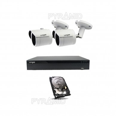 2Mp IP valvekaamera komplekt Longse - 2- 4 kaamerad LBH30HSF200, koos POE 8