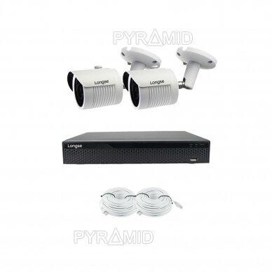 2 megapikselių raiškos IP kamerų komplektas Longse - 2- 4 kameros LBH30HSF200 36