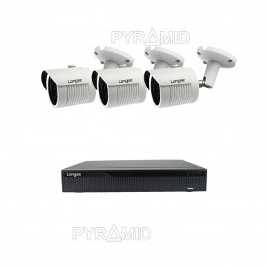 2 megapikselių raiškos IP kamerų komplektas Longse - 2- 4 kameros LBH30HSF200 34