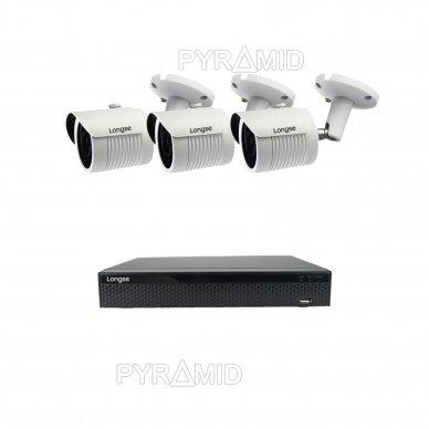 2 megapikselių raiškos IP kamerų komplektas Longse - 2- 4 kameros LBH30HSF200 5