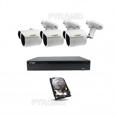 2 megapikselių raiškos IP kamerų komplektas Longse - 2- 4 kameros LBH30HSF200 20