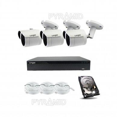 2 megapikselių raiškos IP kamerų komplektas Longse - 2- 4 kameros LBH30HSF200 8