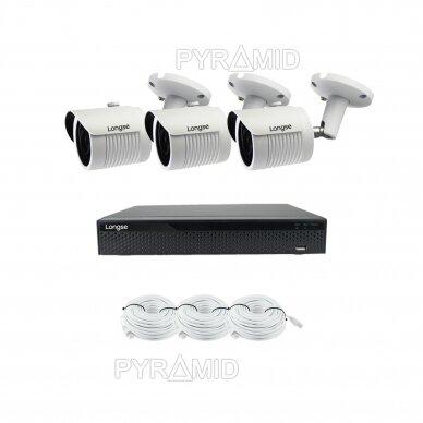 2 megapikselių raiškos IP kamerų komplektas Longse - 2- 4 kameros LBH30HSF200 9