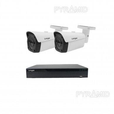 4K 8 megapikselių raiškos IP kamerų komplektas Longse - 1- 4 kameros LBF30ML800 6