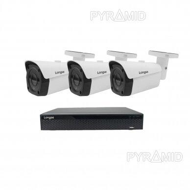 4K 8 megapikselių raiškos IP kamerų komplektas Longse - 1- 4 kameros LBF30ML800 8