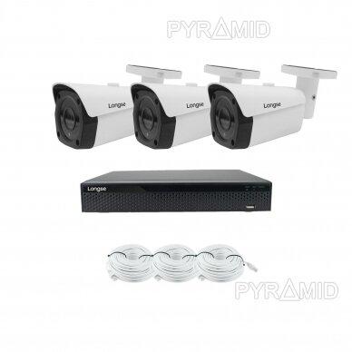 Комплект 8Mп 4K IP видеонаблюдения Longse - 1- 4 камеры LBF30ML800, с POE 9