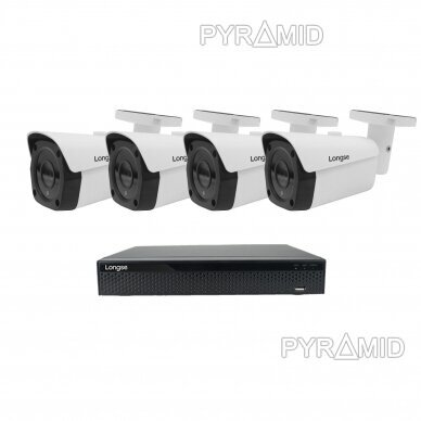 4K 8 megapikselių raiškos IP kamerų komplektas Longse - 1- 4 kameros LBF30ML800 10