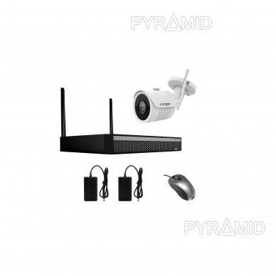 WIFI 2MP IP kamerų vaizdo stebėjimo komplektas Longse 1-8 kameros 3