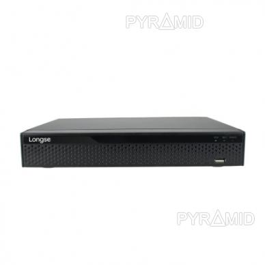 Pentabridinis 8 kamerų vaizdo įrašymo įrenginys Longse XVRDA3108D, iki 8Mp AHD, iki 8Mp IP