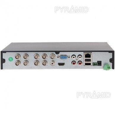Pentabridinis 8 kamerų vaizdo įrašymo įrenginys Longse XVRDA2108HD, iki 5Mp AHD, iki 4k raiškos IP 5