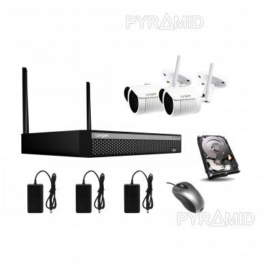 WIFI 2MP IP kamerų vaizdo stebėjimo komplektas Longse 1-8 kameros 4