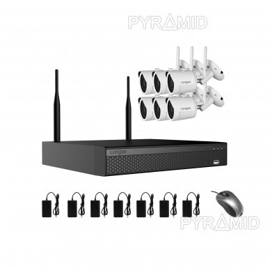 WIFI 2MP IP kamerų vaizdo stebėjimo komplektas Longse 1-8 kameros 17