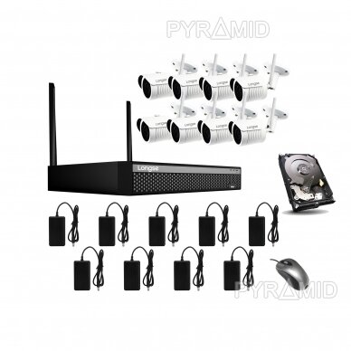 Комплект видеонаблюдения WIFI 1-8 камер, 2Mп, 3,6мм, Longse 24
