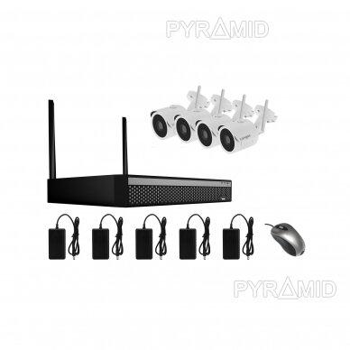 WIFI 2MP IP kamerų vaizdo stebėjimo komplektas Longse 1-8 kameros 10