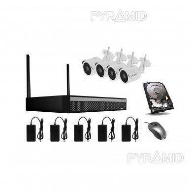 WIFI 2MP IP kamerų vaizdo stebėjimo komplektas Longse 1-8 kameros 8