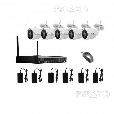 WIFI 2MP IP kamerų vaizdo stebėjimo komplektas Longse 1-8 kameros 13