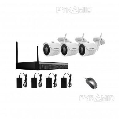 WIFI 2MP IP kamerų vaizdo stebėjimo komplektas Longse 1-8 kameros 7
