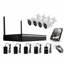Комплект видеонаблюдения 4-х IP WIFI камер Longse WIFI3608DE4SW200, 1080p, 3,6мм +1TB диск!