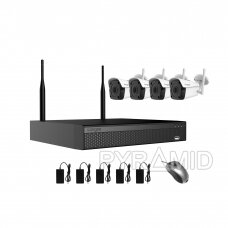 4 WIFI IP kamerų vaizdo stebėjimo komplektas Longse WIFI3604DE4FK500, 5Mp, 3,6mm