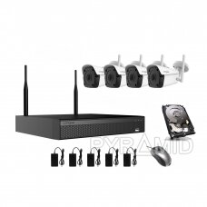 4 camera WIFI surveillance kit Longse WIFI3604DE4FK500, 5Mp, 3,6mm + free gift 1TB disk