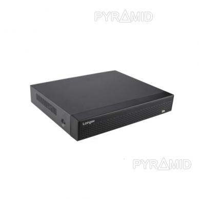 16 kamerų IP vaizdo įrašymo įrenginys Longse NVR3604CDP, iki 4K 8Mp, 4xPOE 2
