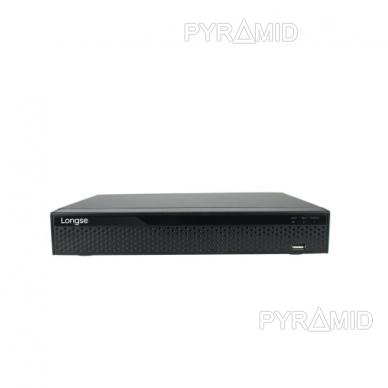 16 kamerų IP vaizdo įrašymo įrenginys Longse NVR3604CDP, iki 4K 8Mp, 4xPOE