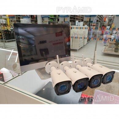 """4 WIFI IP kamerų vaizdo stebėjimo komplektas su 12"""" ekranu Longse WIFI3604M4FK500, 5Mp, 3,6mm + 1TB diskas dovanų 2"""