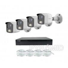 4K 8 megapikselių raiškos IP kamerų komplektas Longse - 1- 4 kameros BMSAML800/A, POE