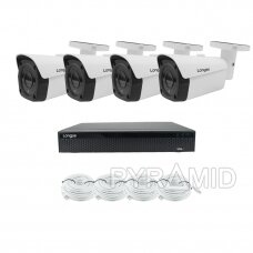 4K 8 megapikselių raiškos IP kamerų komplektas Longse - 2- 4 kameros LBF30SV800