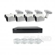 4K UHD 8 megapikselių IP kamerų komplektas Longse - 4 kameros LBH30S800