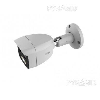 4K 8 megapikselių raiškos IP kamerų komplektas Longse - 1- 4 kameros BMSAML800/A, POE 4