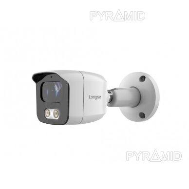 4K 8 megapikselių raiškos IP kamerų komplektas Longse - 1- 4 kameros BMSAML800/A, POE 2