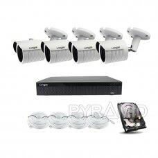 5 megapikselių IP kamerų komplektas Longse - 4 kameros LBH30SS500 su 1TB disku