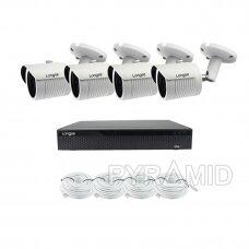 5 megapikselių raiškos IP kamerų komplektas Longse - 1- 4 kameros LBH30ML500